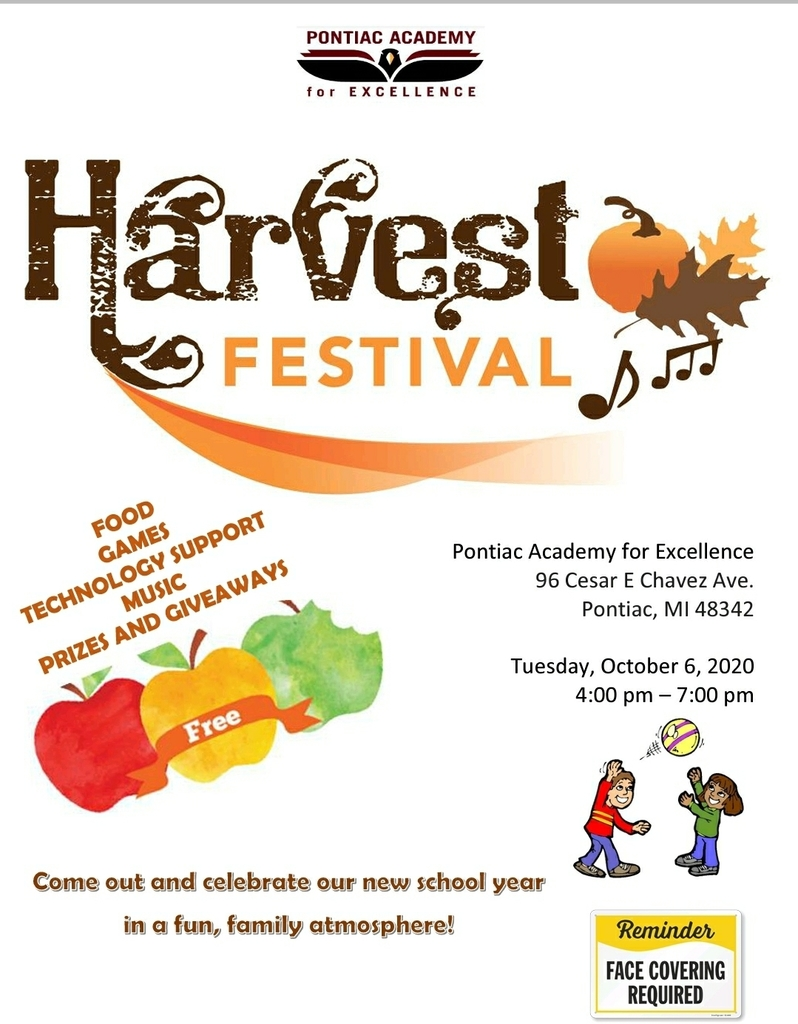 Harvest Festival, Tuesday, October 6, 4-7 pm