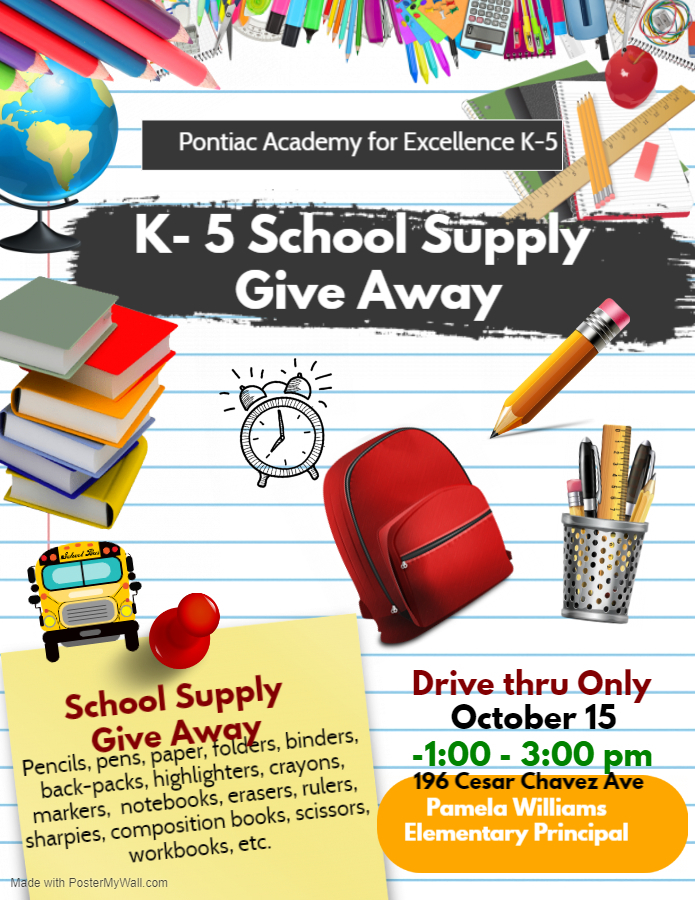 Elementary School Supply Giveaway, October 2020